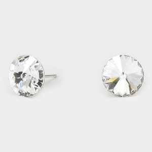 Jewelry - Gorgeous Clear Sparkling Crystal Stud Earrings